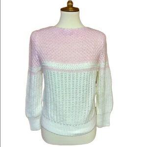 80s vintage super feminine pink babydoll sweater